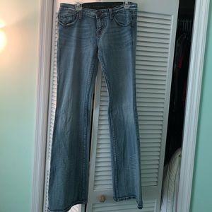 Express Rerock jeans 10 long 35 inch inseam